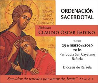 Ordenación sacerdotal de Claudio Badino
