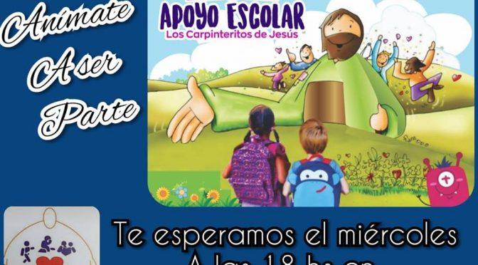 Apoyo escolar en Cáritas El Carpintero