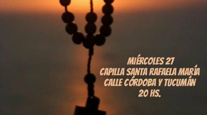 Rosario en la zona pastoral Santa Rafaela María