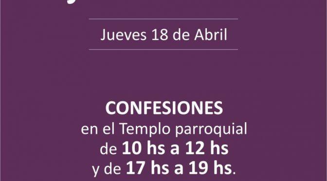 Confesiones en el Jueves Santo