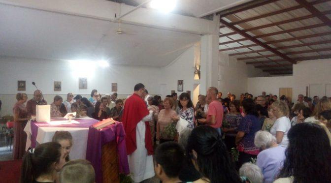 Misa y bendición de ramos en zona Guadalupe