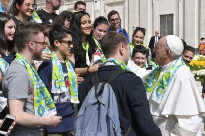 """""""Como nosotros perdonamos a los que nos ofenden""""- Catequesis del Papa Francisco 24-04-19"""