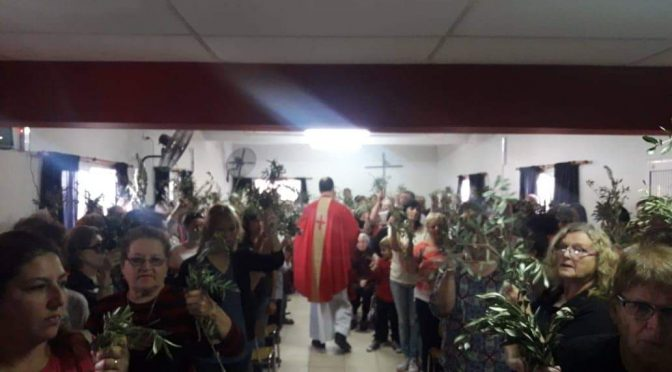 Fotos del Domingo de Ramos en zona Santa Rafaela María