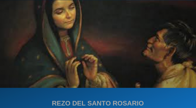 Rosario en zona Virgen de Guadalupe