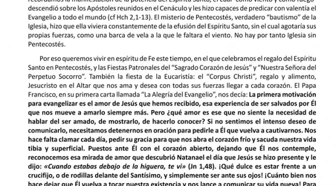 Carta a los Cristianos Junio