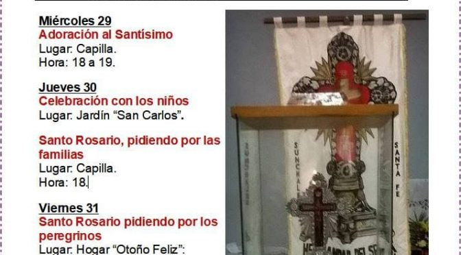 Misas 1° y 2 de junio y Fiesta de Mailín