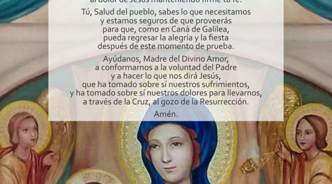 Oración de confianza a María, Madre del Divino Amor