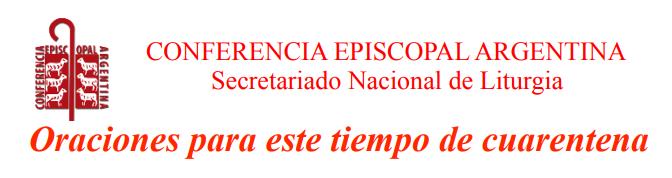 CELEBRAR Y ORAR EN TIEMPO DE PANDEMIA – IV domingo de cuaresma
